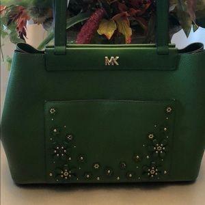 AUTH Michael KORS Green handbag
